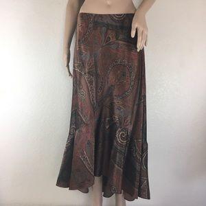 Lauren Ralph Lauren Paisley Silk Skirt